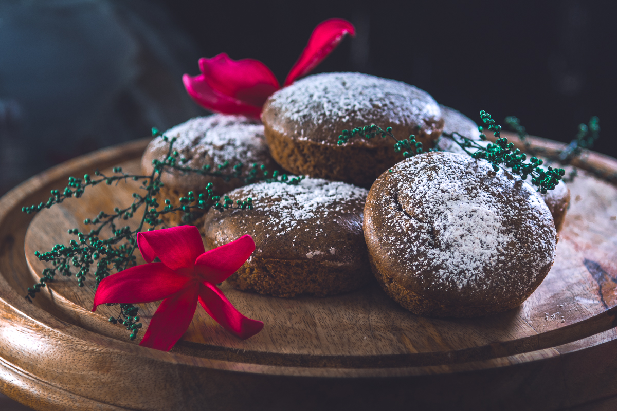 Vanilla Flavoured Buckwheat Muffins with Ginger