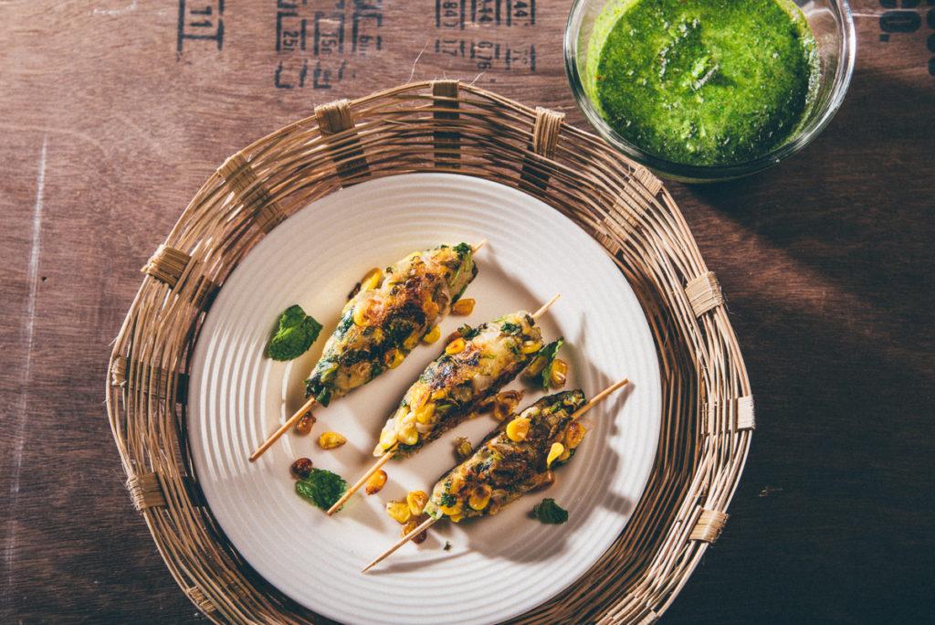 Gluten Free Vegan Corn Kebab